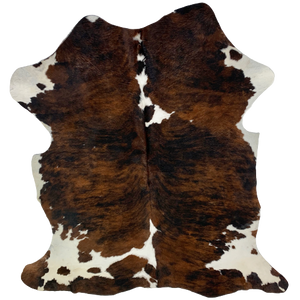 "Colombian Black, Brown, and White Brindle Cowhide - 6'1"" x 4'5"" (COBR491)"
