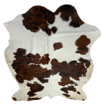 "Small Colombian Tricolor Cowhide, white, brown, black - 6'3"" x 4'9"" (COTR061)"
