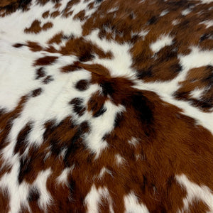 "Small Colombian Tricolor Cowhide, white, brown, black - 6'2"" x 4'8"" (COTR067)"