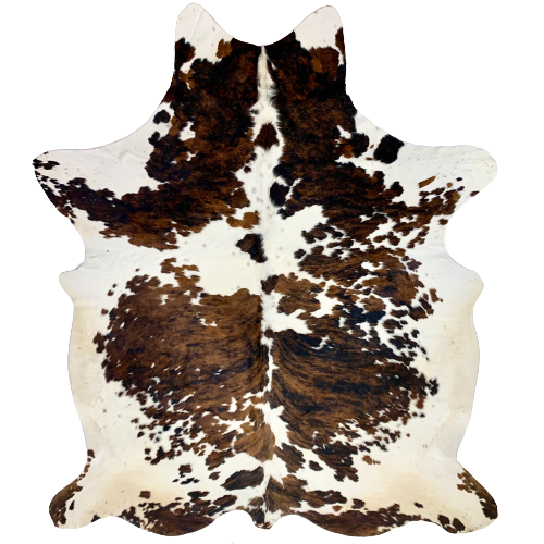 "XL Colombian Tricolor Cowhide Rug - 8'3"" x 5'11"" (COTR096)"
