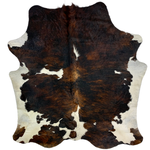 "Colombian Tricolor Cowhide, black, brown, white - 7'2"" x 6'4"" (COTR132)"