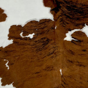 Small Colombian Tricolor Cowhide, white, brown, and black  (COTR141)
