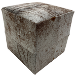 "Cowhide Cube, White and Brown Salt & Pepper - 17"" (CUBE014)"