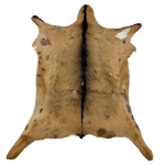 "Goatskin Brown w/ Dark Brown Spine - 2'10"" x 2'3"" (GOAT058)"
