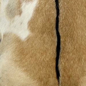 Goatskin Light Brown, Light Beige, White, Black Spine (GOAT062)