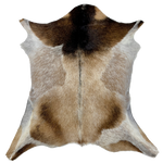 "Goatskin Tan, White, Brown, Black - 2'10"" x 2'7"" (GOAT085)"
