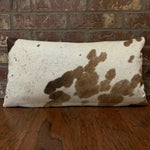 "Lumbar Pillow - Brown and White Cowhide - 24"" x 12"" (LPIL010-2)"
