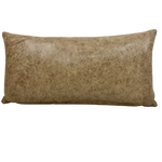 "Lumbar Pillow - Distressed Mushroom Leather - 24"" x 12"" (PIL021)"
