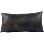 "Lumbar Pillow - Two-Tone Brown Leather - 24"" x 12"" (LPIL024)"