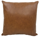 "Two Tone Reddish Brown Leather - 18"" x 18"" (PIL064)"