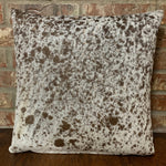 "Brown and White Salt & Pepper Cowhide Pillow - 18"" x 18"" (PIL073)"