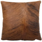 "Red Brown and Black Brindle Cowhide Pillow - 18"" x 18"" (PIL075)"