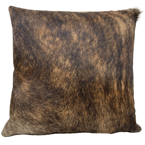 "Brown and Black Brindle Cowhide Pillow - 18"" x 18"" (PIL086)"