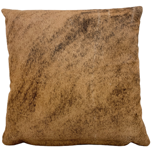 "Caramel and Black Brindle Cowhide Pillow - 18"" x 18"" (PIL087)"