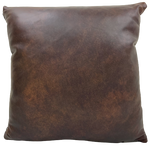 "Two Tone Dark Brown Leather Pillow - 18"" x 18"" (PIL088)"