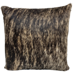 "Black and Tan Brindle Cowhide Pillow - 18"" x 18"" (PIL090)"
