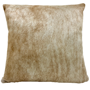 "Tan Brindle Cowhide Pillow - 18"" x 18"" (PIL091)"