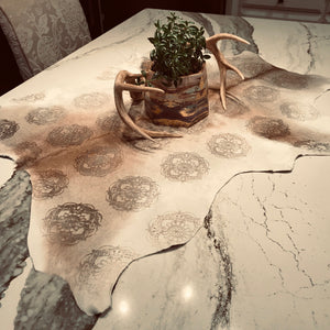 One cool way to use this designer calfskin is as a table runner! (CALF028)