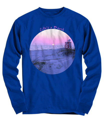 Life's a Beach Blue Long Sleeve Tee