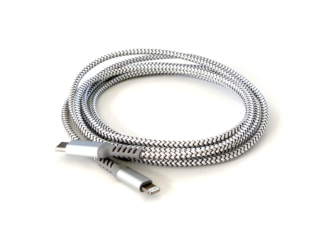 Nylon Braided, Reinforced USB-A to Lightning Cable (MFi certified)