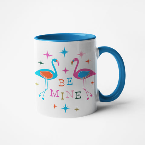 Be Mine Flamingos Mug 11oz