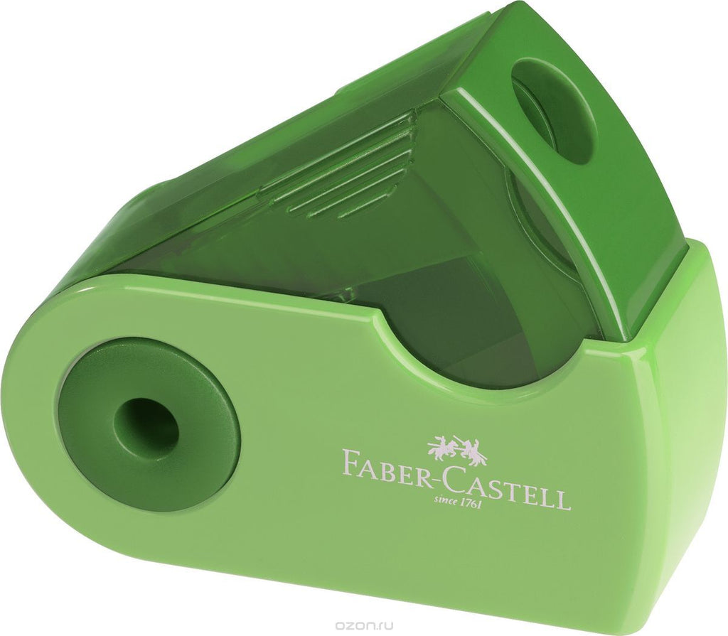 FABER-CASTELL SINGLE HOLE SHARPENER BOX- GREEN