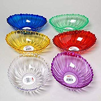 SERVING BOWL W/SCALLOPED EDGE OVAL Assorted color, Price for 1