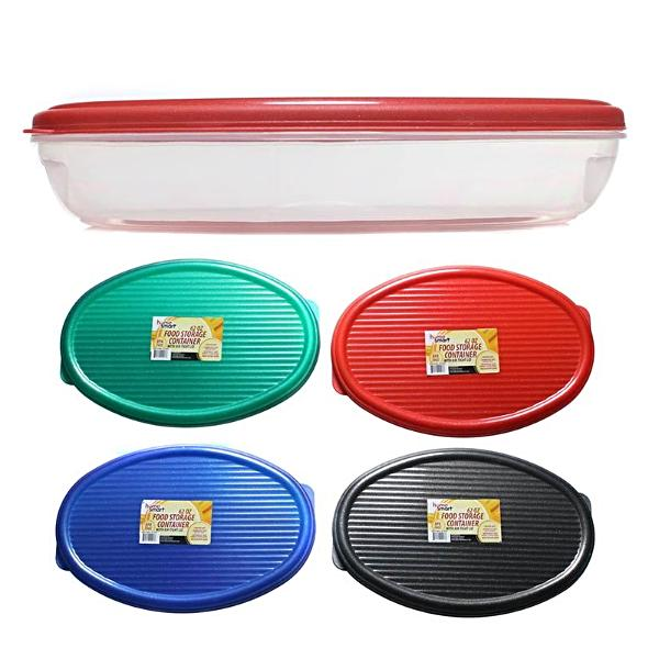 HOME SMART PLASTIC CONTAINER OVAL 62oz /1.8L  *1PC
