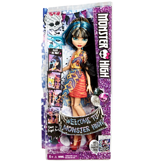 MONSTER HIGH WELCOME TO MONSTER HIGH CLEO DE NILE DOLL