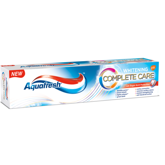 AQUAFRESH COMPLETE CARE WHITENING TOOTHPASTE 100ml