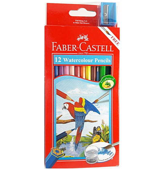 FABER-CASTELL 12 WATERCOLOR PENCILS