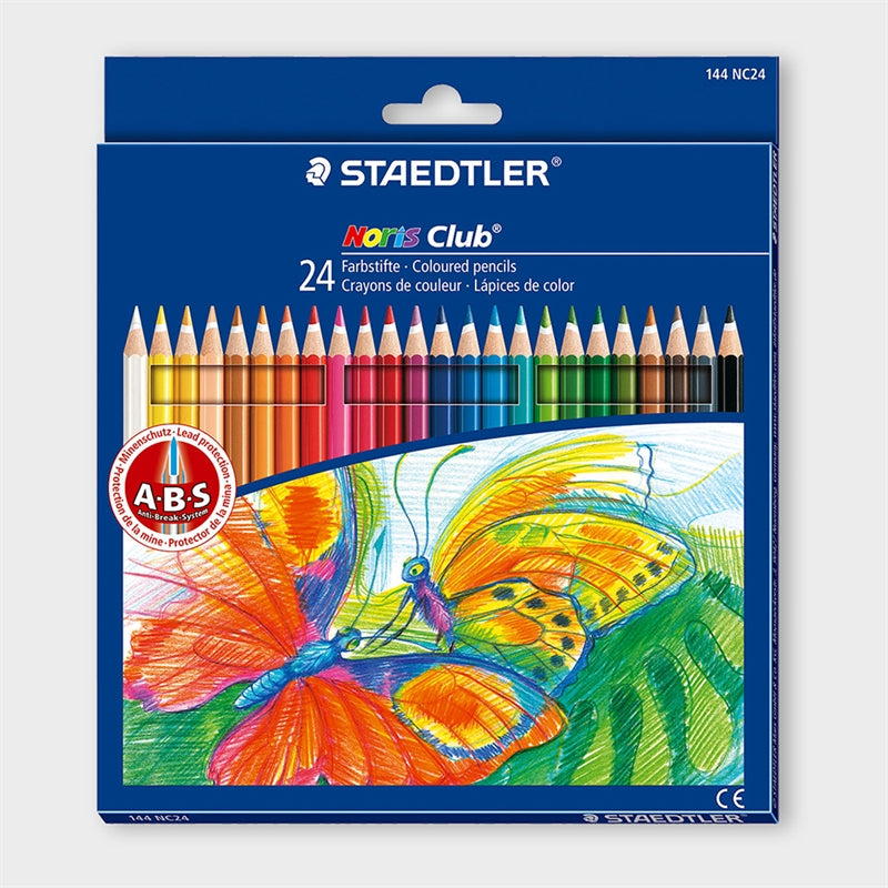 STAEDTLER 24 COLOR PENCILS +STICKER + COLORING BOOK