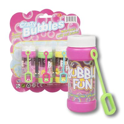 TOY 3pc CRAZY BUBBLES BOTTLES & LOOPS
