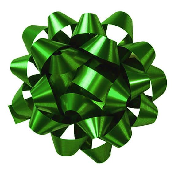 CONFETTI BOW Emerald Green, 10cm