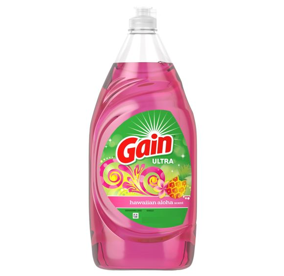 Gain Ultra Dishwashing Liquid Dish Soap, Hawaiian Aloha, 236ml