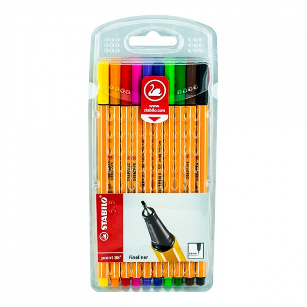 STABILO FINE-LINER POINT88 10 Color Pack