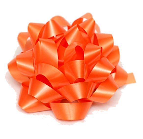CONFETTI BOW Tropical Orange , 10cm