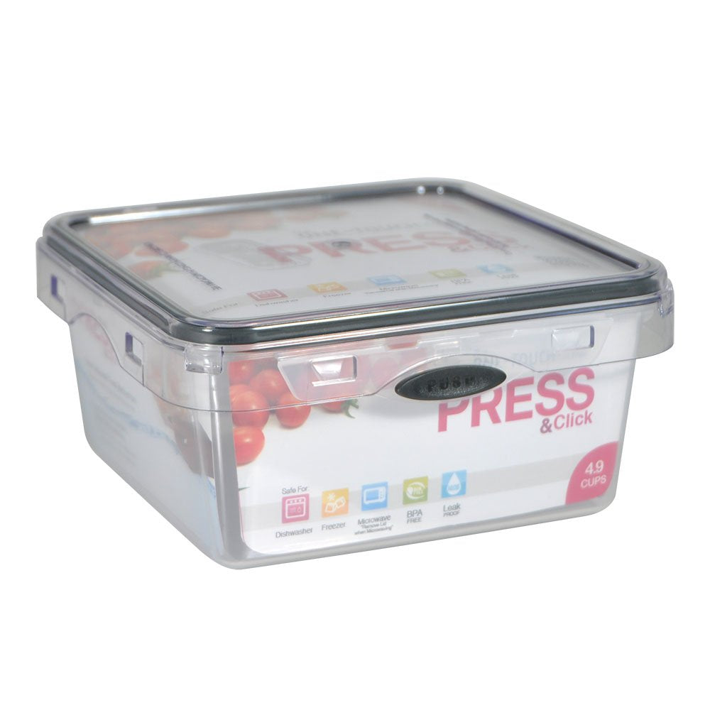 4.9 Cup Square Press N' Click Food Storage Container