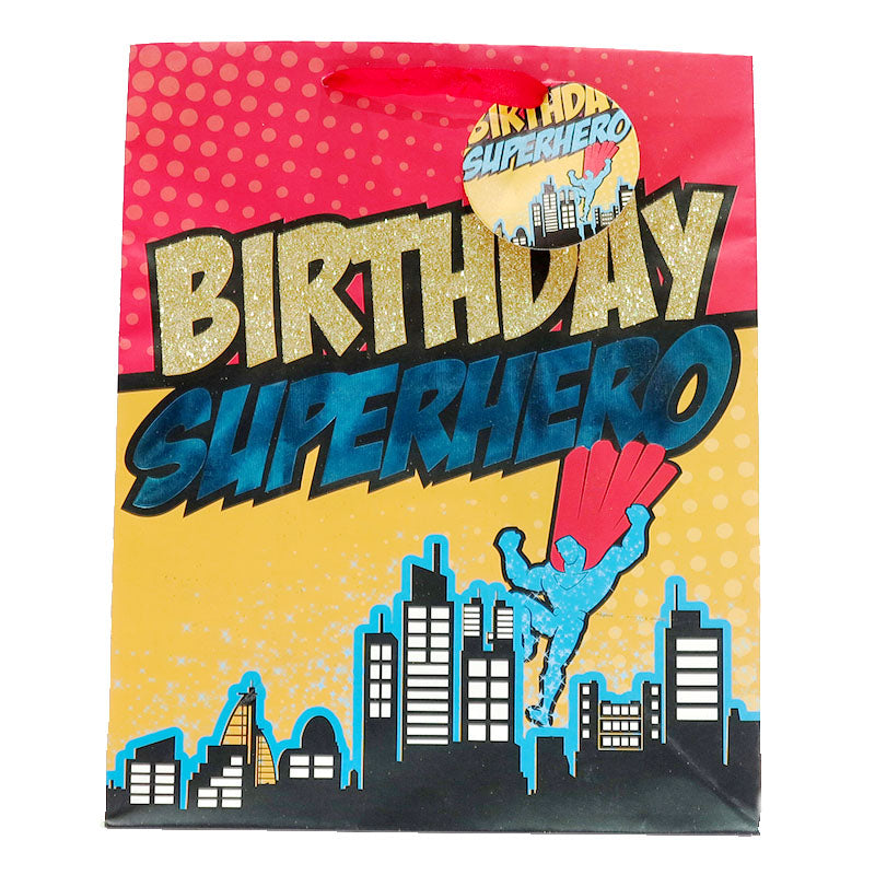 SuperHero Birthday Gift Bag