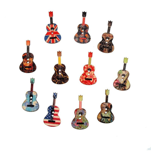 Guitar Buttons for Young Musicians to Show Off Their Talent