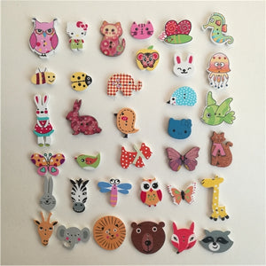 Oh So Cute Button Buttons!! 50 Pcs in a Pack of Your Choice of Cuteness!
