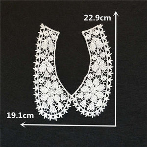 Hot sale White Lace Collar Guipure Floral Lace Fabric Trim DIY Embroidery Lace Neckline Sewing Applique trim Clothing Accessory