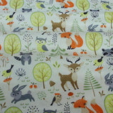 Woodland Animals Frolicking in the Forest