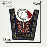 Hot sale Mixture Ethnic style embroidery Lace Neckline Sewing Fabric Trim DIY Sewing Lace Collar Applique Clothing Decoration
