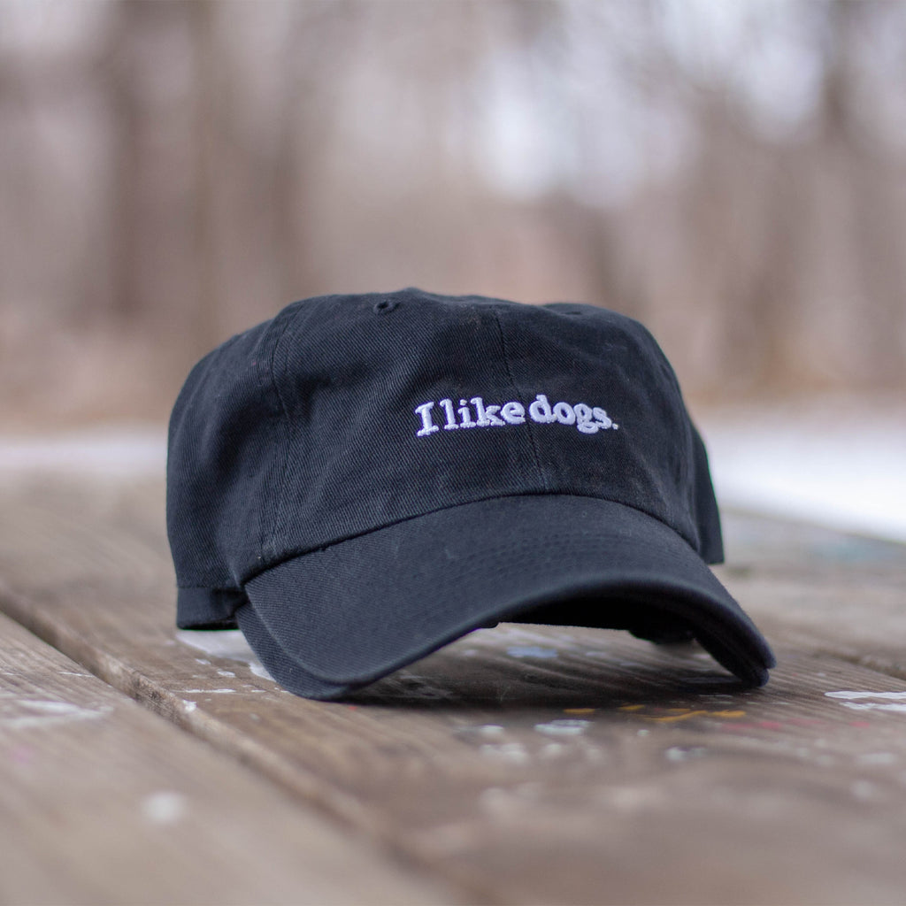 I like dogs. Dad Hat - Black