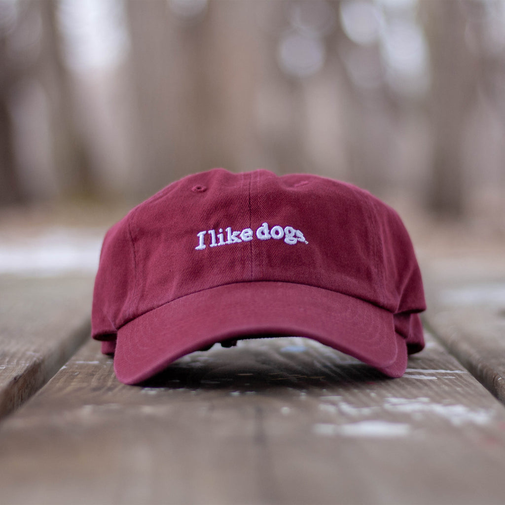 I like dogs. Dad Hat - Cardinal