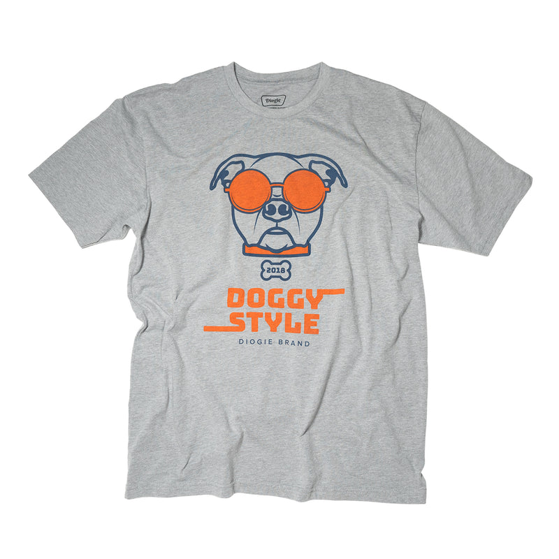 Doggy Style T-Shirt - Heather Grey