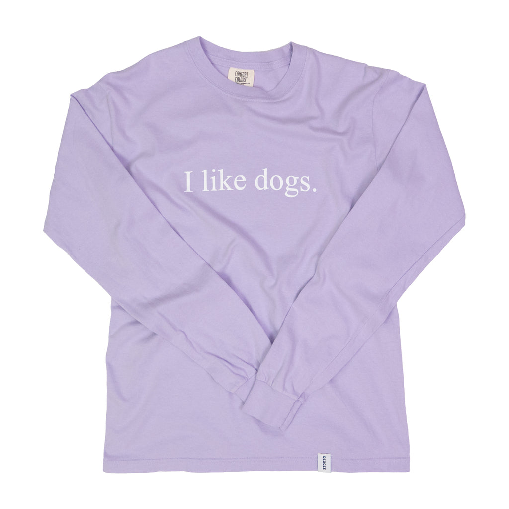 I like dogs. Long Sleeve T-Shirt - Orchid