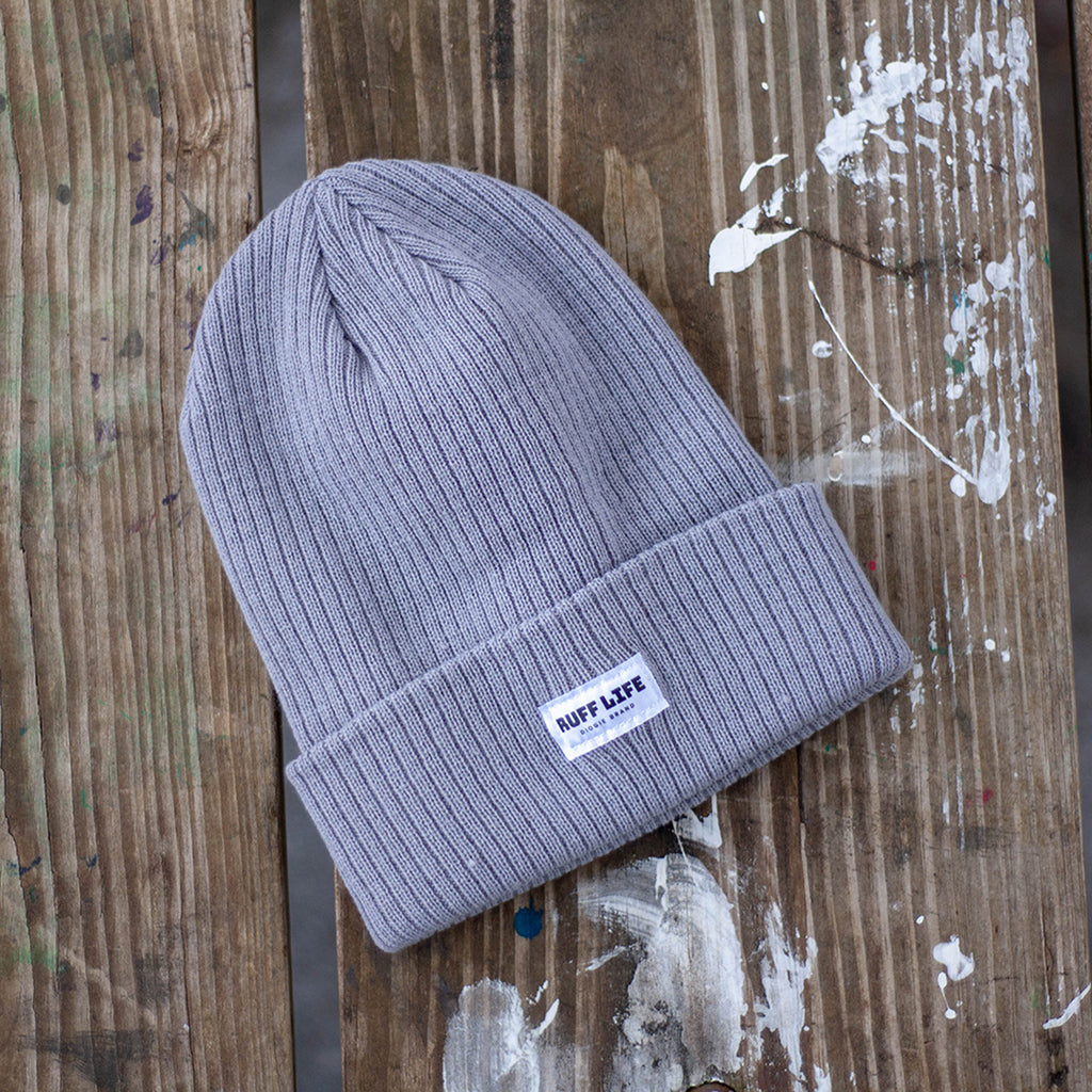 Ruff Life Beanie - Light Gray