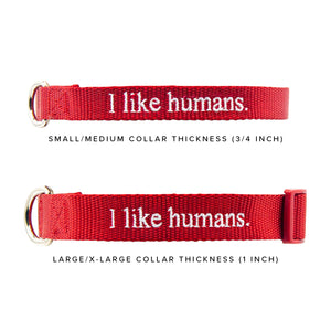 I like humans. Dog Collar - Lavender